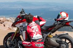 Jamie Robinson mounted a 2015 Ducati Multistrada 1200 S and left his home in Los Angeles for Colorado Springs, where raced it in the running of the Pikes Peak International Hill Climb. Ducati Multistrada 1200 S, Ducati Motorcycles, Red Planet, Pikes Peak, Los Angeles Homes, Colorado Springs, Bike Life, Motorbikes, Racing