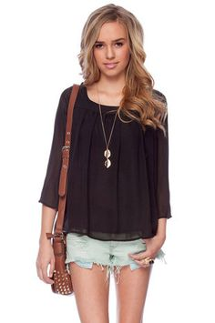 Babydoll Blouse in Black