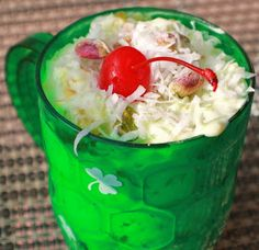 What's Cookin' Italian Style Cuisine: Pistachio Ambrosia with Video Happy St. Patrick's Day