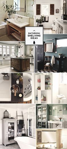 Design Guide: Bathroom Shelving Ideas Mood Board