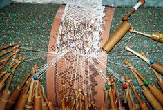 """Bobbin Lace - Learning how to do this is on my """"Bucket List."""" So very pretty!!"""