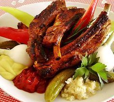 Pork ribs with sauces and spices cooked in slow cooker. Best Ribs Recipe, Slow Cooker Ribs Recipe, Slow Cooker Barbecue Ribs, Crock Pot Slow Cooker, Slow Cooker Recipes, Grilled Beef Ribs, Pork Ribs, Barbecued Ribs, Healthy Cooking