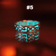 Vintage Men Women Glow in the Dark Rings Luminous Ring Retro Jewelry Gift Silver Celtic Rings, Celtic Knot Ring, Celtic Knots, Jewelry Party, Wedding Jewelry, Fashion Rings, Fashion Jewelry, Ring Designs, Glow