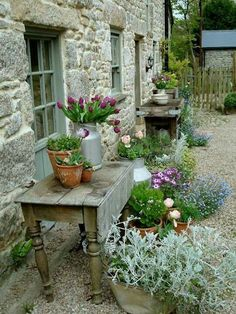 50 Amazing Ideas French Country Garden Decor 50 Amazing Ideas French Country Garden Decor In modern cities, it is virtually impossible to take a seat in the house wi. Back Gardens, Small Gardens, Rustic Gardens, Outdoor Gardens, Container Plants, Container Gardening, Pallet Gardening, Succulent Containers, Container Flowers