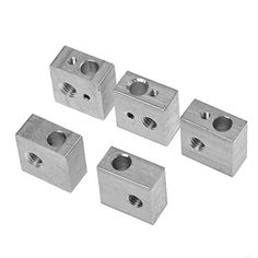 Kamo 5PCS Aluminum Heater Block M6 Specialized for MK7 MK8 Makerbot 3D Printer Extruder - http://3dprintdays.com/kamo-5pcs-aluminum-heater-block-m6-specialized-for-mk7-mk8-makerbot-3d-printer-extruder/  Visit http://3dprintdays.com for more info!
