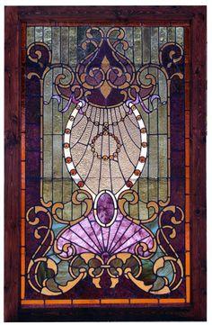 stained glass panels, glass doors, window, color, purple glass, front doors, stain glass, art deco, art nouveau