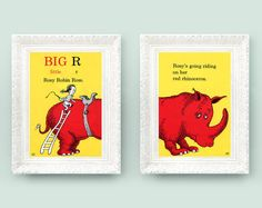 Take pages from Children's book and frame it for playroom art.