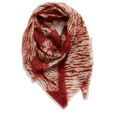 Treasure&Bond 'Midnight Mix' Dip Dye Scarf ($48) ❤ liked on Polyvore featuring accessories, scarves, red combo, patterned scarves, lightweight scarves, red scarves, print scarves and boho scarves