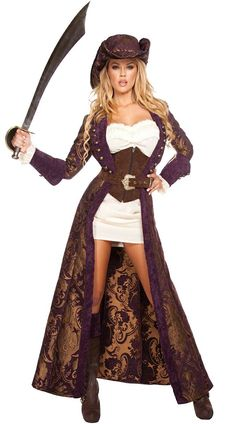 Halloween DECADENT PIRATE DIVA COSTUME - Cadılar Bayramı Kostümleri