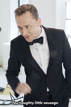 I love the way Tom looks....I don't like the words this GIF is stuck with...