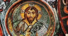 Çarıklı Kilise, byzantine, fresco detail, Turkey. Life Of Christ, Jesus Christ, Byzantine Art, Picture Postcards, Orthodox Icons, Middle Ages, The Rock, Fresco, Catholic