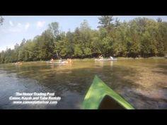 kayaking on the Platte River in Honor, MI
