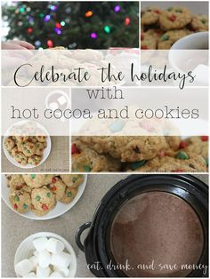 Celebrate the holidays with hot cocoa and cookies. Check out the recipe for oatmeal chocolate chip cookies and the best ever creamy crock pot hot cocoa, or hot chocolate. This is a great tradition for decorating the Christmas tree or making cookies for Santa. @verybestbaking #NestleHolidayBaking #CollectiveBias ad