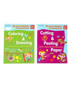 Take a look at this Play & Grow Workbook Set by Kumon Publishing on #zulily today!
