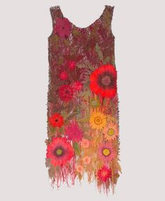 Beautiful machine embroidered dress by Sue Rangeley