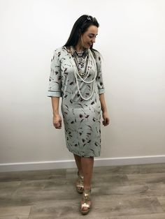 A quirky update for your daytime wardrobe, this mint green dress from Noa Noa would look great layered over leggings and worn with flat sandals. Mint Green Dress, Festival Fashion, Looks Great, Fashion Inspiration, Cold Shoulder Dress, Tunic, Floral, Clothes, Shopping