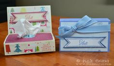 Get Well tissue box Tutorial Measurements: Cardstock- 4 x 10 – Scores at 6 7 Patterned Paper Get Well Gifts, Get Well Cards, Tissue Box Covers, Tissue Boxes, Tissue Holders, Scrapbook Supplies, Scrapbook Cards, Get Well Baskets, Stamping Up Cards