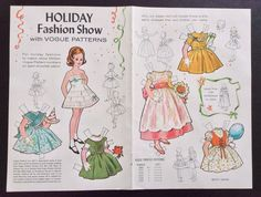 It is from the VOGUE Pattern series and is of a Fashion Show. It is in good condition. Jack and Jill Magazine Paper Doll. | eBay!