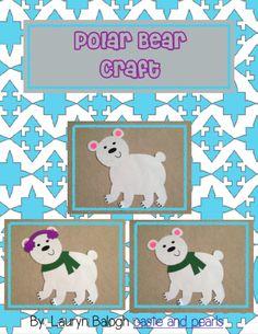 winter polar bear craft (templates)