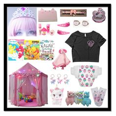 """""""🍼🍼🍼"""" by meow-im-dead-inside ❤ liked on Polyvore featuring Disney, claire's, Pusheen and Hello Kitty"""