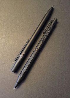 Flat Black Modern Duo: FABER-CASTELL Neo ballpoint & PENTEL Orenznero automatic feed mechanical pencil 0.3mm. Best Mechanical Pencil, Mechanical Pencils, Moleskine Pen, Expensive Pens, Luxury Pens, Pencil Design, Stationery Pens, Best Pens, Pencil Writing