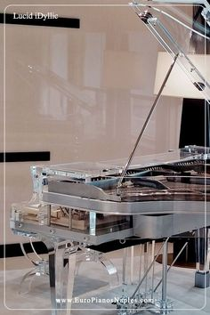The instrument with pure divinity in it, Bluthner Lucid iDyllic - premium acrylic transparent piano. See more glass pianos available. Design Studio Office, Recording Studio Design, Teen Boy Rooms, Piano For Sale, Electric Piano, Home Studio Music, Piano Room, Modern, Contemporary