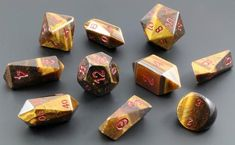Dwarven Stone Hybrid Dice (Tiger Eye) Note: This dice set is hand crafted from real...