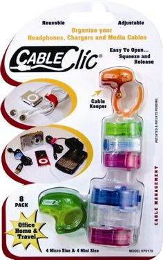 QA Worldwide KP0179 Cable Clic Pack 4 Micro and 4 Mini