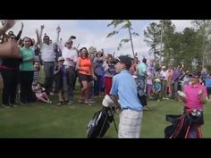 Tiger Woods witnesses kid make the first ever hole-in-one at The Playgrounds at Bluejack National. - Real Funny