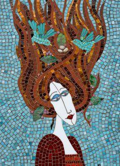 Birds in Hair Mosaic