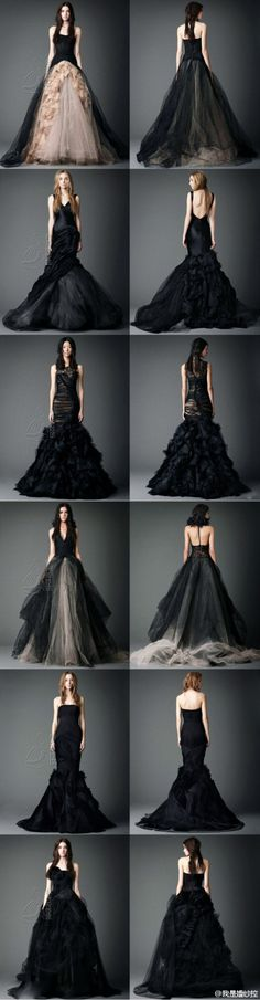 Black dress collection by Vera Wang #wedding #gown