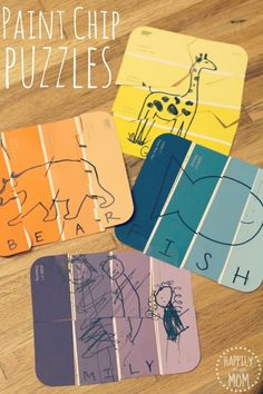 Kid's Project Idea: Paint Chip Puzzles