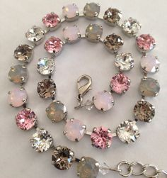 Swarovski crystal necklace Greys opals bracelet and by MISWINGS
