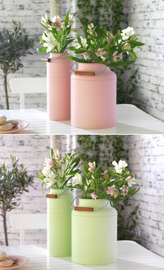 Spring Holiday Entertaining - Try fresh spring flowers in pastel SOCKER vases for a sweet and simple centerpiece, or easy hostess gift.