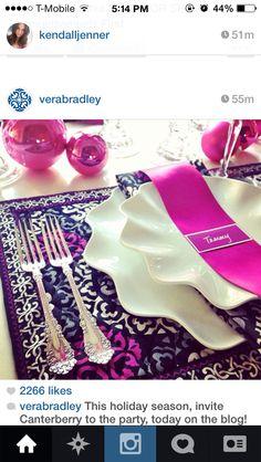 1ce6a423fe Vera bradley dinner table Formal Dinning Room