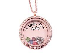 I Love You More Rose Gold Locket