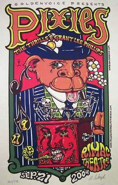 The Pixies Concert Poster by Michael Michael Motorcycle