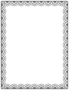 Free Lace Border Templates Including Printable Border Paper And Clip Art  Versions. File Formats Include GIF, JPG, PDF, And PNG.  Paper Border Designs Templates