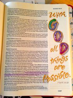 Ϯ ❤ Ϯ                                                                Spiritual Thought                                                      ♥Mark 10:27