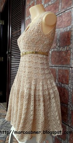 crochet dress - good pics of other dresses at this site, but foreign and hard to navigate