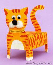 Orange box cat