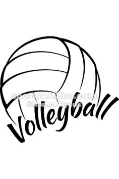 Stylized Volleyball by SportsArtZoo #volleyball #design