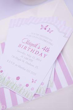 Garden Birthday Party Invitation | Cherry Blossom Charm