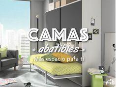 CAMAS ABATIBLES ¿Quieres un dormitorio de invitados que no te quite mucho espacio?  Necesitas una cama abatible :)