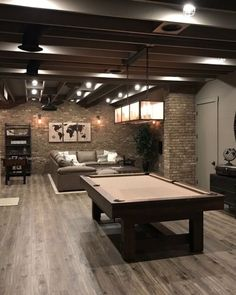 man cave basement Ceiling for basement comes in various types depends on the function of your basement. Youre free to transform your basement into theatre, your sanctuary, library, ho Cozy Basement, Man Cave Basement, Modern Basement, Basement House, Basement Bedrooms, Basement Flooring, Basement Finishing, Basement Bathroom, Basement Plans