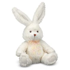 Melissa & Doug Brenna Plush Bunny's floppy rabbit body lists endearingly, while her wired ears stay strong in any position you choose. Embroidered features, a fluffy tail and a pretty polka-dot bow will make this stuffed animal hop to the top of the toybox!<br><br>In 1989 The Melissa & Doug Company started in the garage of the home where Doug grew up! Thanks to your support, the Melissa & Doug Company grew and was able to move into a real office down the road. Their philosophy has remained…