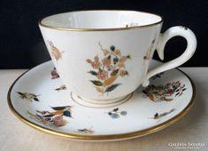 Zsolnay családjeles csésze aljjal 1880 körül