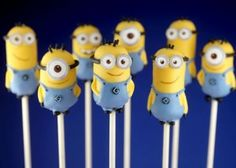 Mini minion cake pops! Adorable! #cake #despicableme