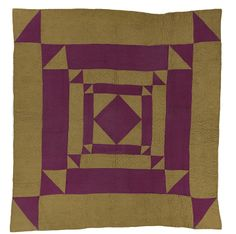 Diamond on Point in Squares Quilt, maker unknown, made in Wales, 1890-1910, IQSCM 2005.058.0002, purchase made possible through James Founda...