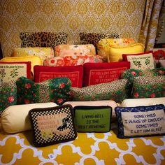 The Glam Pad: Lycette Designs Is Bringing Needlepoint to the Millennial Generation Needlepoint Pillows, Needlepoint Designs, Needlepoint Canvases, Decoration, Needlework, Millennial Generation, Weaving, Bring It On, Things To Come